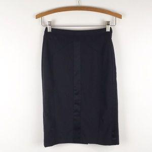 ANN TAYLOR   black pencil skirt stretch 0549